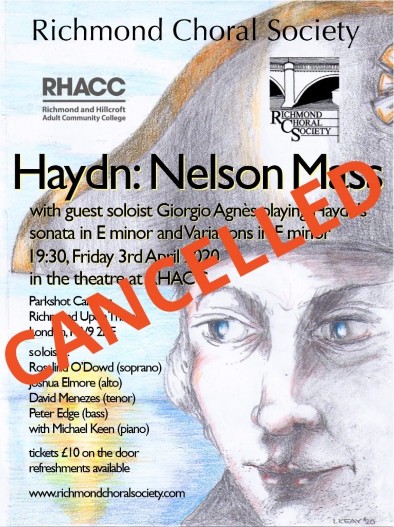 We are sorry to announce the cancellation of our Easter concert. Watch this space for announcements on future performances